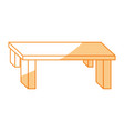 table furniture wood vector image vector image