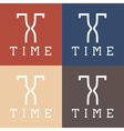 time monogram vector image vector image