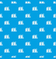 tower plant pattern seamless blue vector image vector image