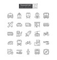 transportation and vehicle icons vector image