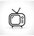 tv symbol icon design vector image
