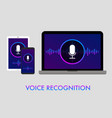 voice recognition and personal assistant concept vector image vector image