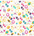 colorful jewelry icons seamless pattern vector image