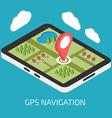 GPS mobile navigation with tablet or smartphone vector image