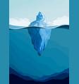 iceberg arctic landscape vector image