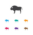 of zoo symbol on buffalo icon vector image