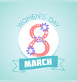 8 march womens day vector image