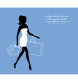 a girl with shopping bags vector image