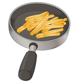 A pan with fries vector image vector image