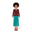 african american pretty girl vector image