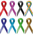 Awareness ribbons vector image vector image