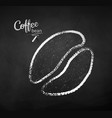 black and white chalk sketch coffee beans vector image vector image