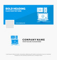 blue business logo template for computer devices vector image vector image