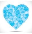 blue small heart make big heart vector image