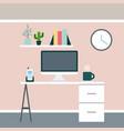 businesswoman and businessman desk vector image