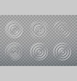 collection water ripple circle vector image