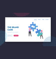 collective work partnership landing page template vector image vector image