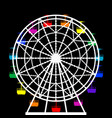 colorful ferris wheel from an amusement park vector image vector image