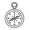 compass icon outline style vector image vector image