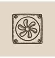 Computer cooler sketch icon vector image vector image