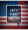 Concept of studying English vector image vector image