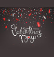 confetti falling down happy valentines day vector image