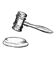 court gavel vector image vector image