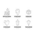 crystals logo templates set vector image vector image