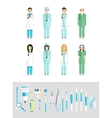Dental set dentists instruments vector image vector image