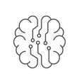 digital brain icon ai concept iot hi-tech line vector image vector image