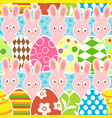 easter seamless background vector image vector image