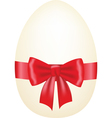 egg with bow vector image vector image