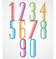 Elegant Tall Striped retro style numbers set vector image vector image