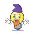 elf light bulb character cartoon vector image vector image