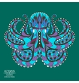 entangle stylized octopus sketch for tattoo or t vector image vector image