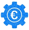 Euro Development Gear Grainy Texture Icon vector image vector image