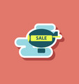 fashion patch sale sticker air balloon vector image vector image
