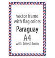 flag v12 paraguay vector image vector image