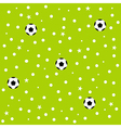 Football Ball Star Polka Dot Green Background vector image