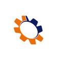 gear solution logo vector image vector image