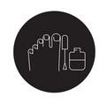 gel polish pedicure black concept icon gel vector image
