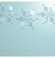 glossy Christmas snow flakes vector image vector image