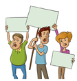 group of protesters vector image vector image