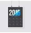 Happy New Year 2016 Calendar Happy 2016 vector image