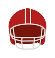 helmet american football icon vector image