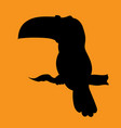 illstration of a silhouette bird the toucan vector image