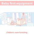 interior children room bafirst equipment vector image vector image