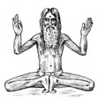 international yoga national man meditating in vector image vector image