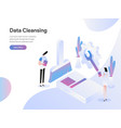 landing page template data cleansing isometric vector image vector image
