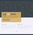 law and justice concept with thin line icons vector image vector image